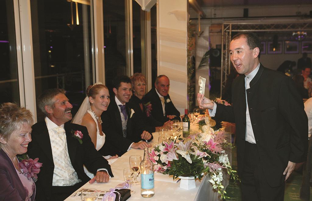 Wedding Top Table Dollar bill trick
