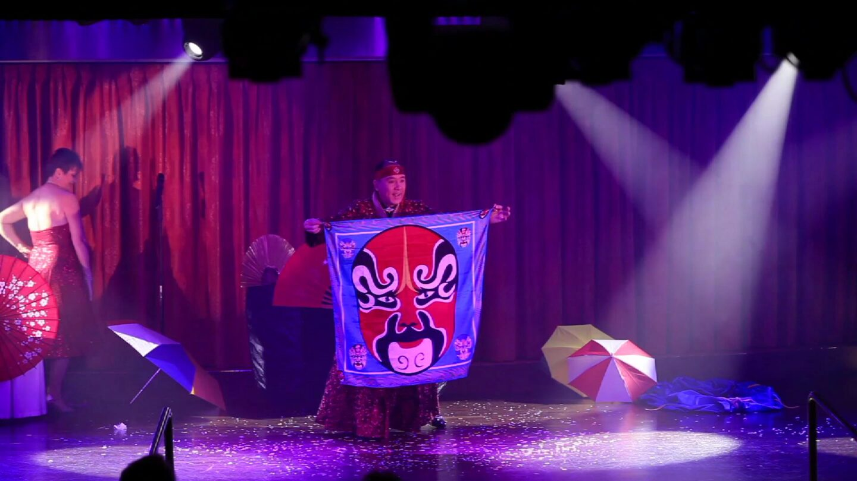 Tensai Stage Act, opera silk used in an illusion.