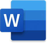 Word icon, linking to doc file.